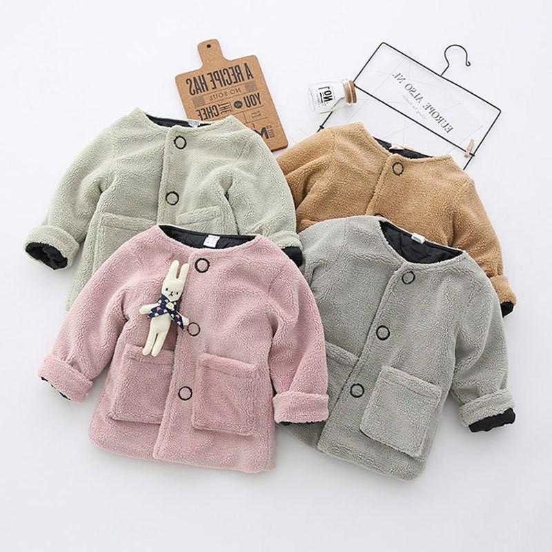 f56f8c600 Newborn Girl Autumn Spring Cotton Fleece Thick Warm Jacket Fashion  Outerwear Infant Baby Coats Toddler Kids Clothing Kids Jacket Sale Boys  Down Jacket With ...