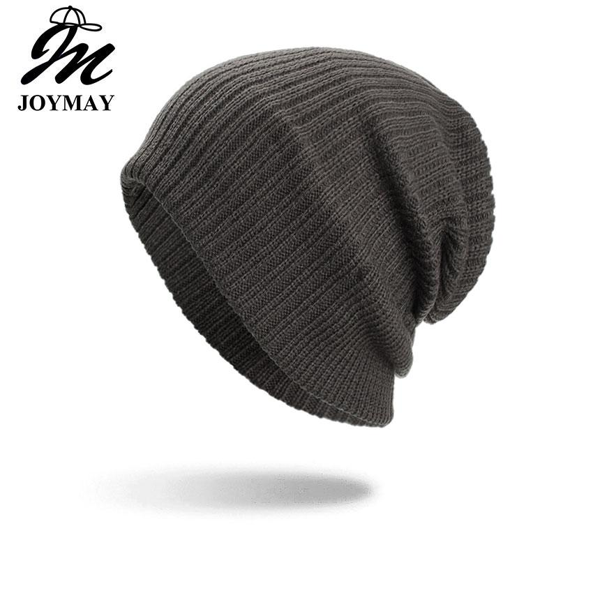 54a4e0a7d31c50 Joymay Brand Winter Beanies For Men And Women New Two Way Wearing Hat  Disorderly Color Plain Warm Soft Skull Knitting Cap WM091 Baby Boy Hats  Black Baseball ...