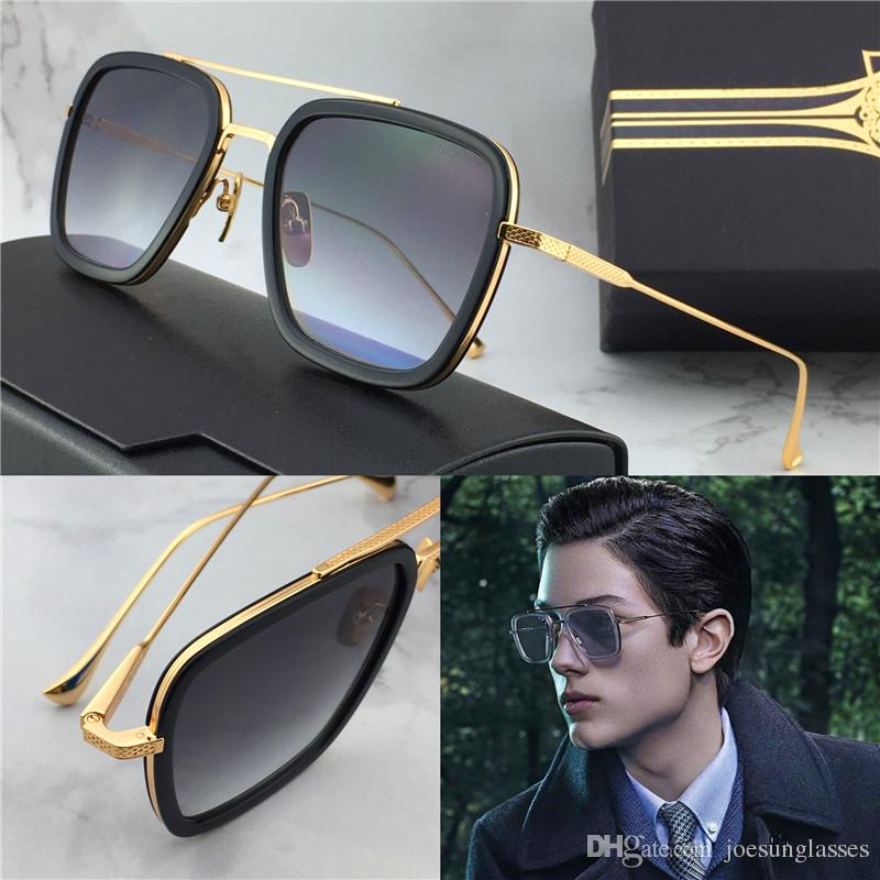 8500d29bd0bce New Fashion Sunglasses Flight 006 Square Frame Gold Plated Men Outdoor  Designer UV400 Lens Retro Style Top Quality Smith Sunglasses Sunglasses At  Night From ...