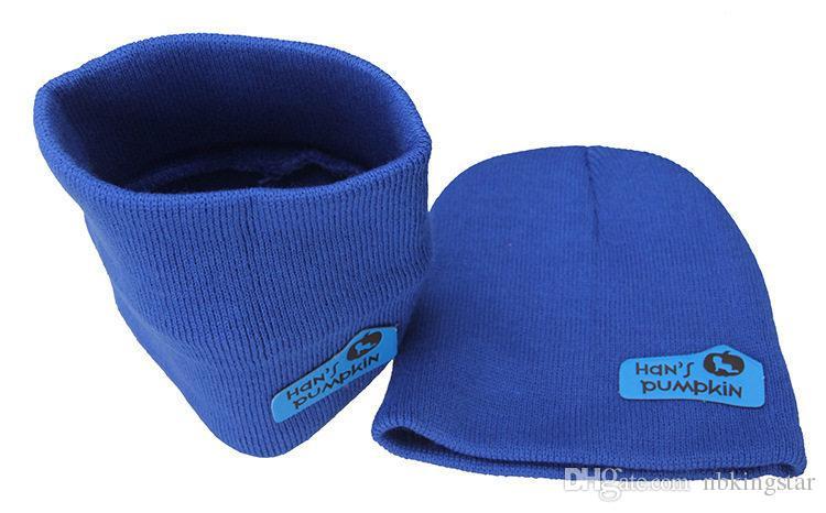 Fije el anillo de la bufanda y el gorro de punto Beanie para el bebé del color del caramelo del niño del ganchillo sombreros + bufanda / Set