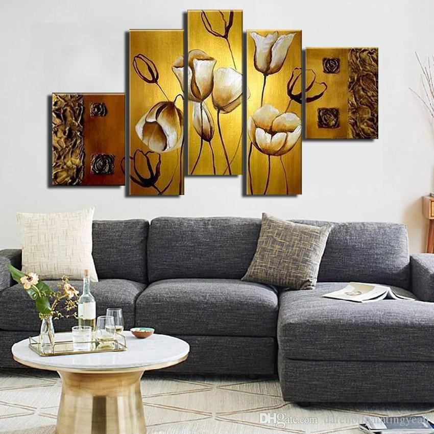 MYT Oil painting On Canvas Wall art Pictures For Living Room home decor Pop art modern abstract hand painted abstract wall decor