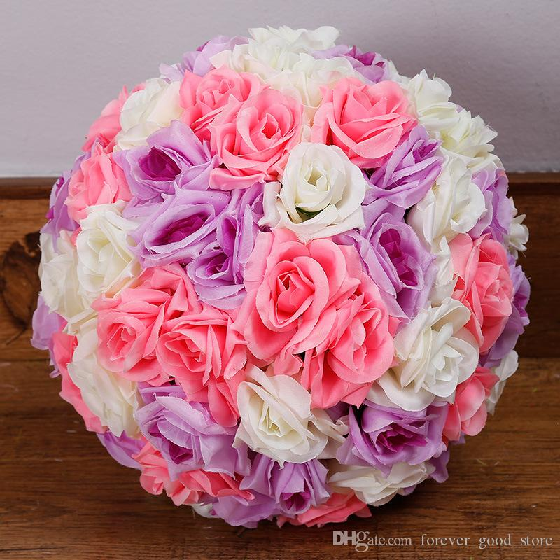 2018 rose ball silk rose flower balls 7inch diameter kissing balls 2018 rose ball silk rose flower balls 7inch diameter kissing balls designs for wedding party shops artificial decorative flowers from forevergoodstore mightylinksfo