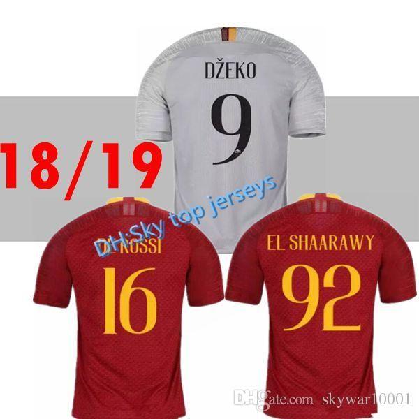 cb2bf8dec 2019 Thai Quality 18 19 Home Away Roma 9 DZEKO Soccer Jerseys 2018 2019 Rome  10 TOTTI DE ROSSI EL SHAARAWY NAINGGOLAN Football Shirt From Skywar9999