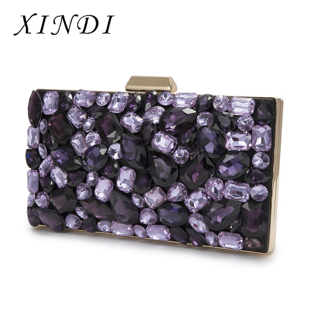 a5097d4d4a11 Luxury Crystal Evening Bag Clutch Purple Gemstone Party Purse High Quality  Vintage Fashion Women Wedding Clutch Bag Rhinestones Grey Handbags Handbag  Heaven ...