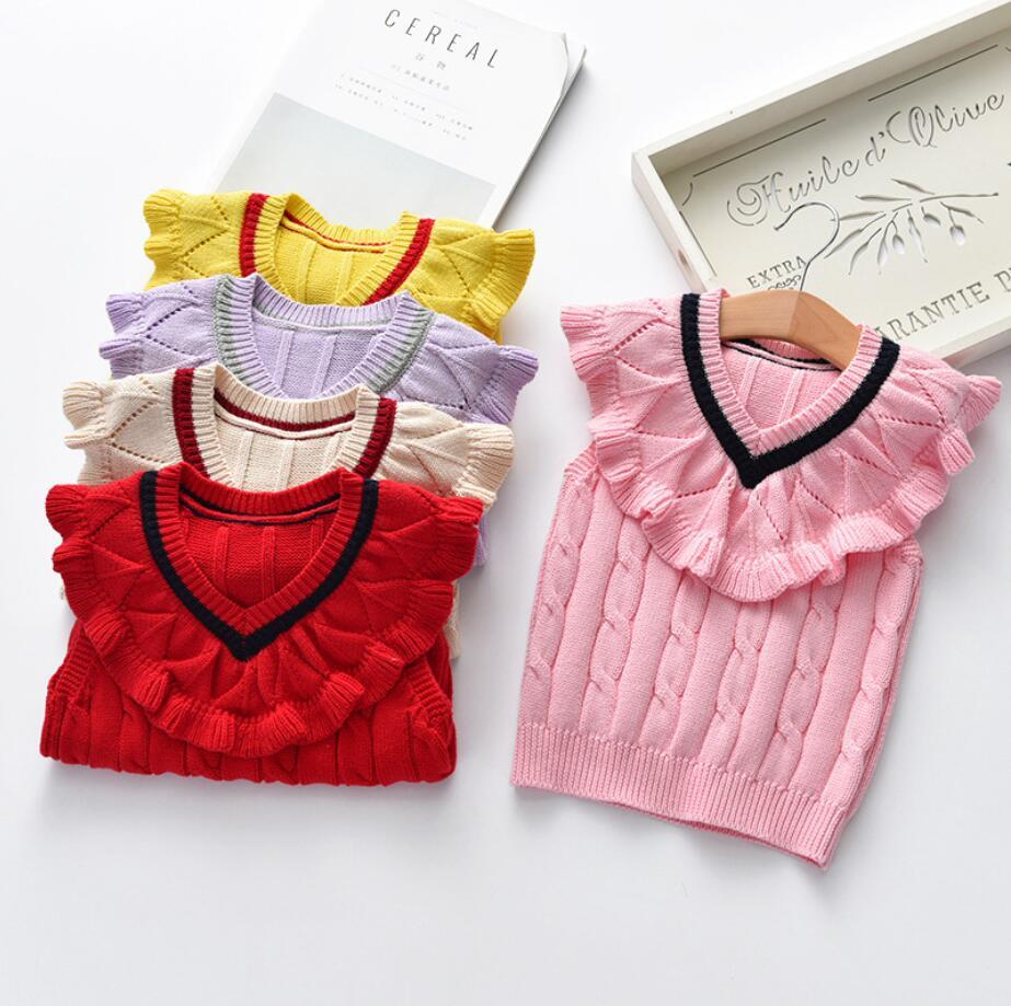 153c61e65244 Baby Sweater Macrame Waistcoat Baby Girl All Match Vest Infant ...
