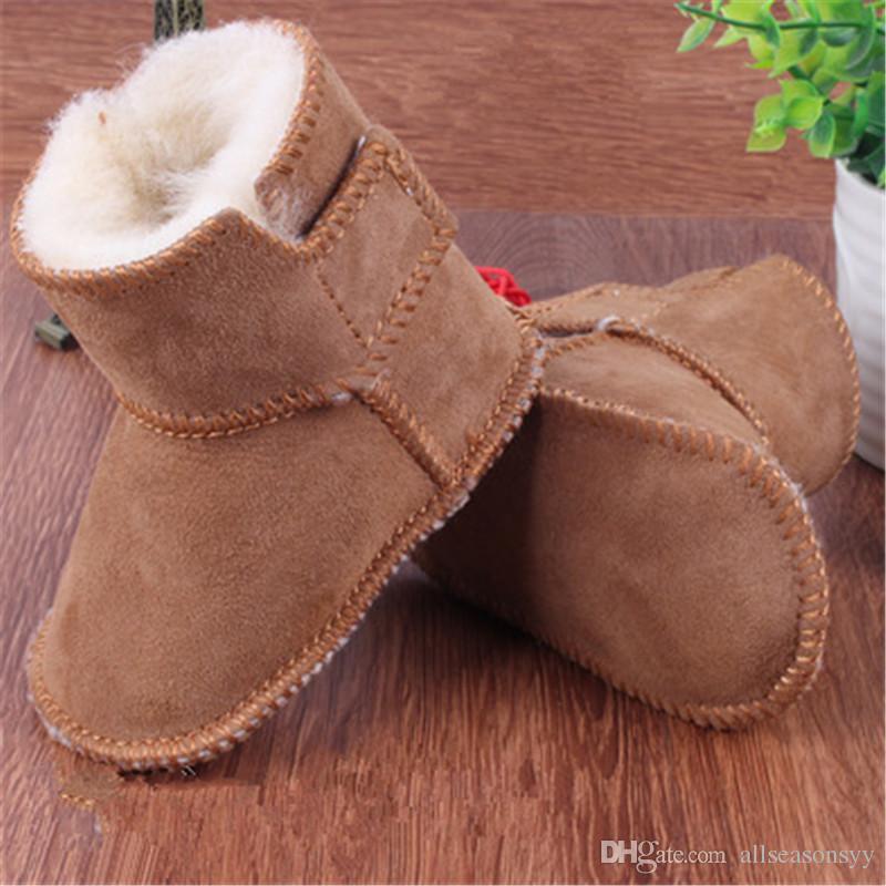 761b19ffd Compre Meninos Meninas Sapatos Rússia Inverno Crianças Sapatos Quentes Faux  Pele Meninas Bebê Botinhas De Couro Menino Bebê Botas Crianças Maternidade  De ...