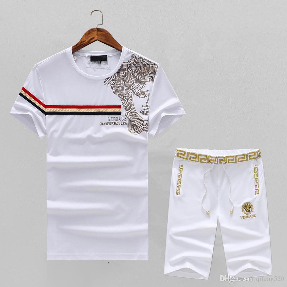 2019 2018 Italy Brand Polo Shirt Sport Suit High Street Medusa T