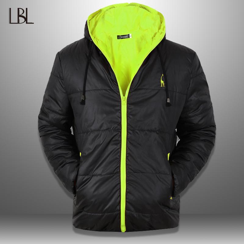 Winter Kleidung Parkas Männer Mit Mantel Kapuze Jacke Bergsteigen Bodybuilding Hoody Lbl Winddichte Kragen Herren Outwear Mann 54j3RAL