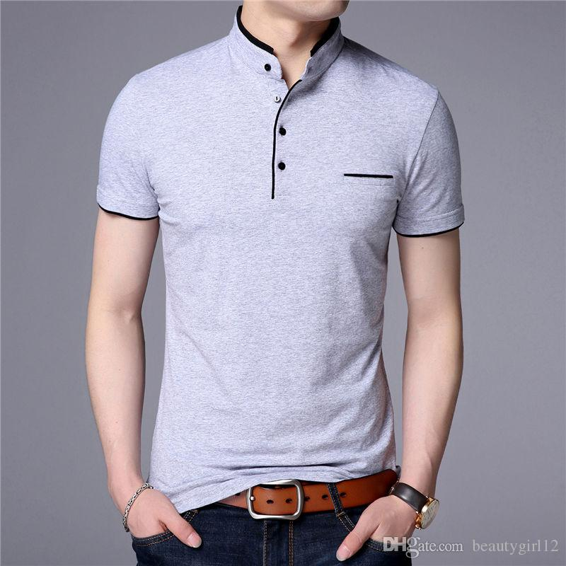 Summer men's short-sleeved shirts slim down with a cotton half sleeve top
