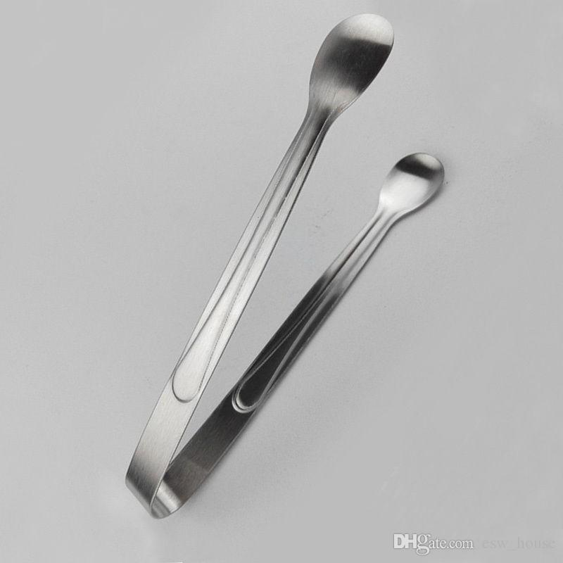 Mini Ice Clamp Stainless Steel Coffee Sugar Tongs Tool Bar Barbecue BBQ Clip Kitchen Accessories Portable ZA0795 Wholesale