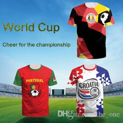 Compre 14 Diseños De La Copa Del Mundo Fifa 2018 Mens Diseñador De  Camisetas De Jugador De Jersey 3D Imprimir Diseñador De Fútbol Ropa Para  Hombre Niños De ... 2255ca7a6b656