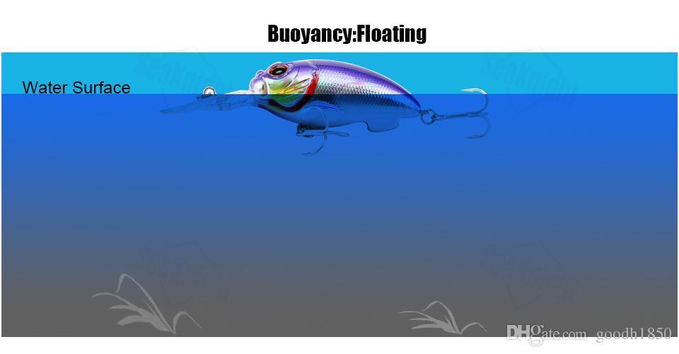 Fishing Lure 10cm 17g 0-1.5M Deep Depth Long Tongue Chubby Crank Bait Breathe Fish VMC Hook Lure