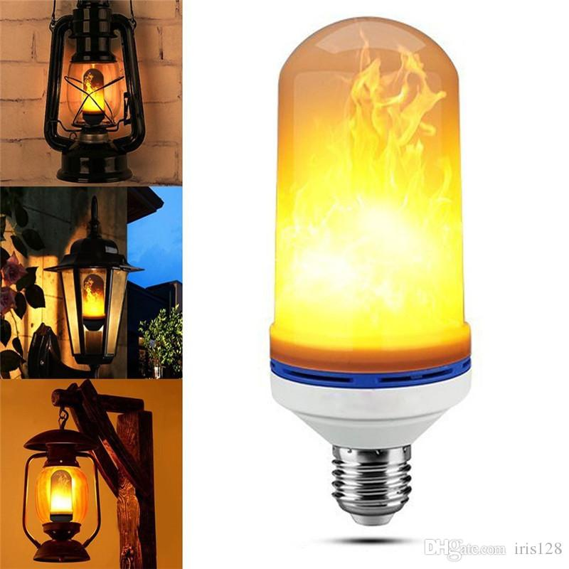 Feuer Beleuchtung | Grosshandel Led Flame Effect Feuer Gluhbirne E27 Led Flackern Lampe