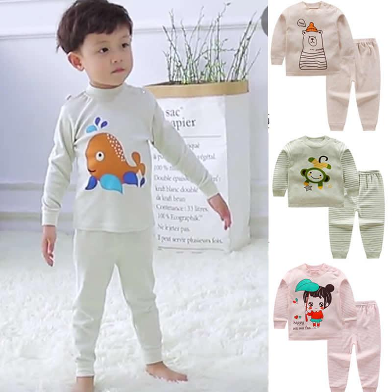 Newborn Baby Girls Clothes Set Cartoon Long Sleeved Tops+Pants Outfits Kids  S Clothing Children Jogging Suits Underwear Baby Boy Christmas Pajamas  Pajama ... aa71c91db