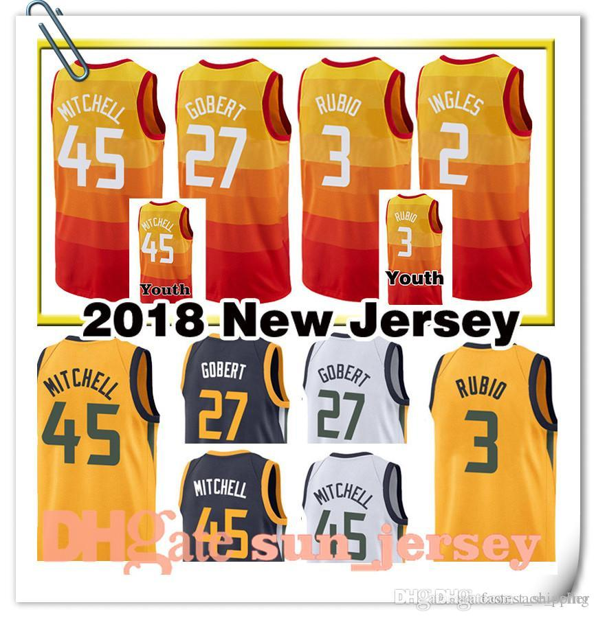 8b2e40cb836 ... basketball jerseys youth man yellow d7ace 5b884  discount code for 2018  2018 new mens youth 27 rudy gobert jersey 45 donovan mitchell 3