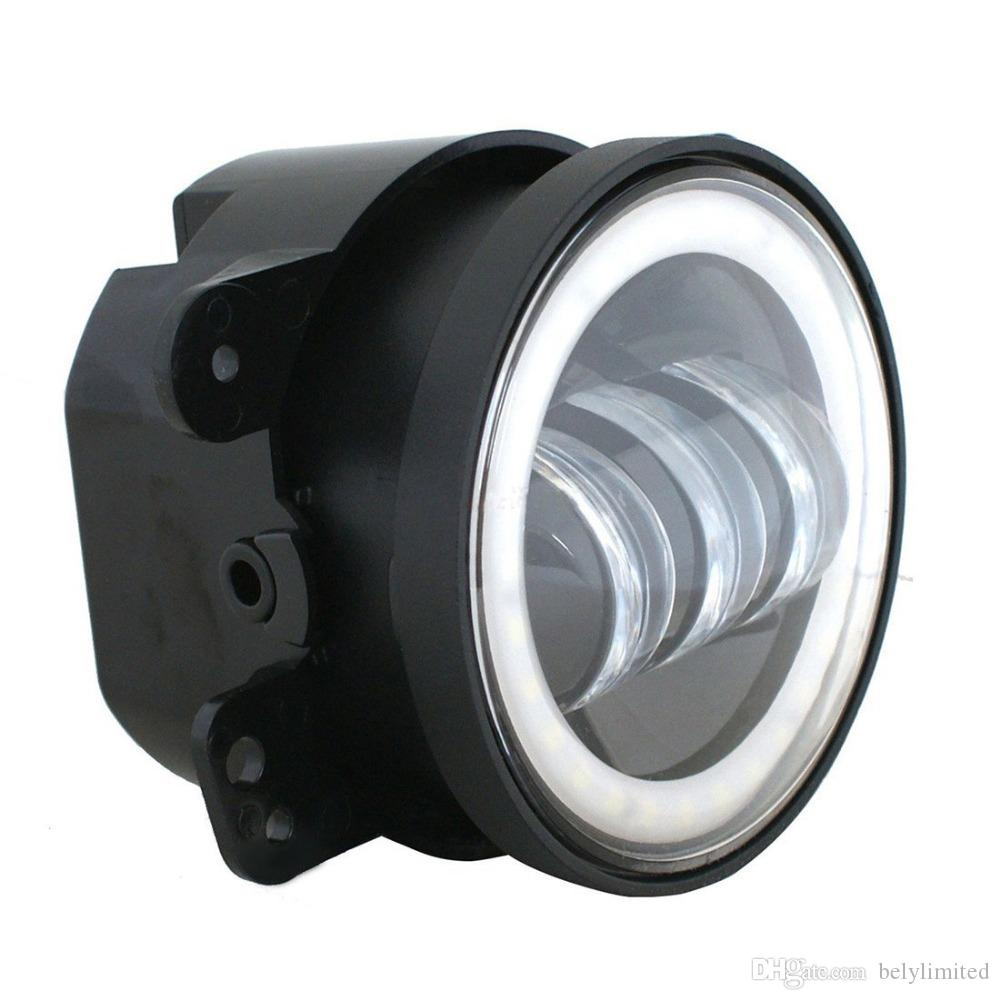4 pouces 60W 4800lm IP67 LED antibrouillard Halo Anneau Angel Eyes pour Jeep Wrangler 97-16 JK TJ LJ ATV