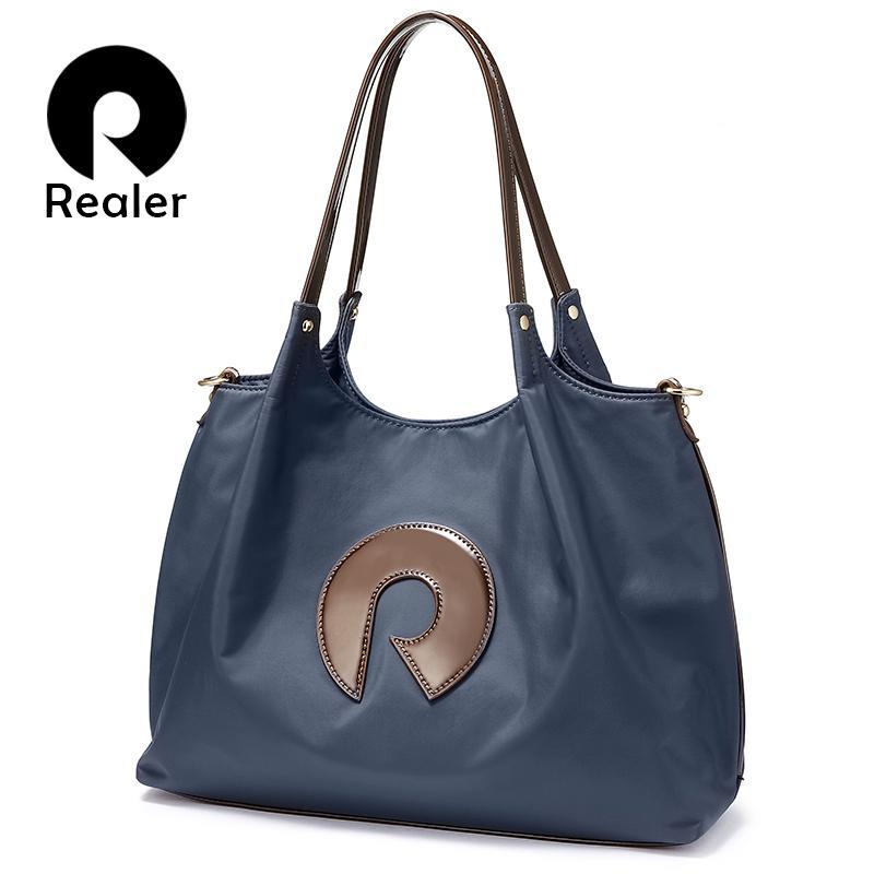 d80cbdf6b0 Wholesale Women Handbags Oxford Cloth Shoulder Bag Large Top Handle Bags  Ladies Patent Leather Messenger Tote Bag Female Brand Cheap Bags Cheap  Designer ...