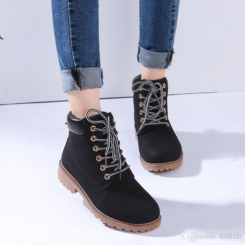 Waterproof Original Quality Martin Ankle Boots Brand New Mens Work Hiking Shoes Leather Outdoor Winter Snow Boots multi colors Size T79