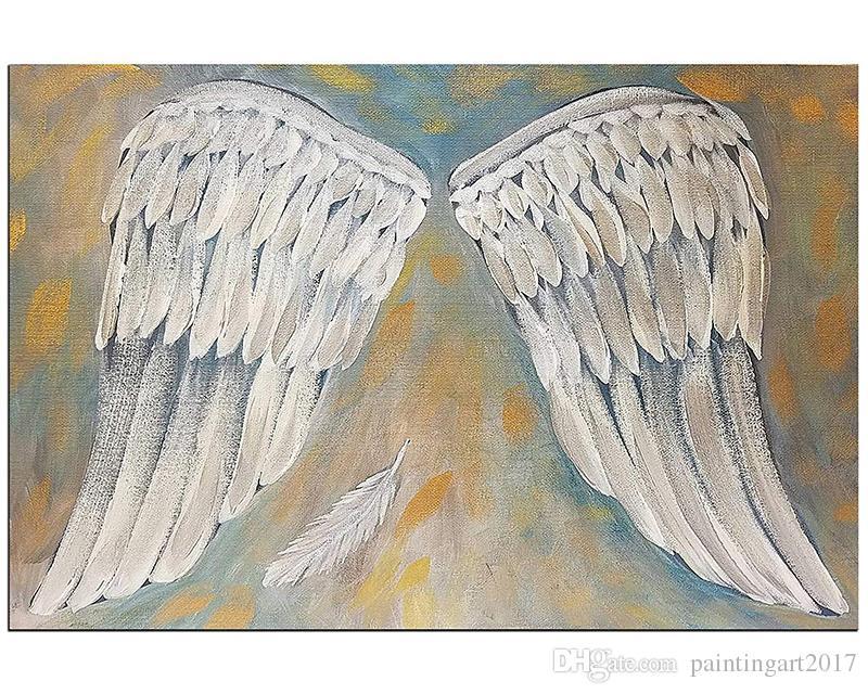 Satın Al Rüzgar Melek Kanatları Boyama Beyaz Sanat Yapıt Duvar Dekor