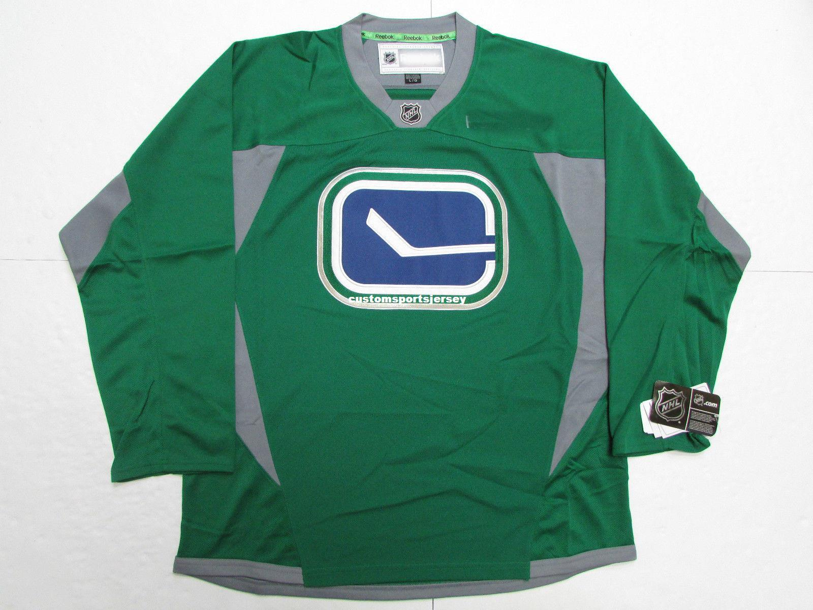 Cheap Custom VANCOUVER CANUCKS GREEN PRACTICE HOCKEY JERSEY Stitch Add Any  Number Any Name Mens Hockey Jersey XS 5XL UK 2019 From Customsportsjersey b8092b0d9
