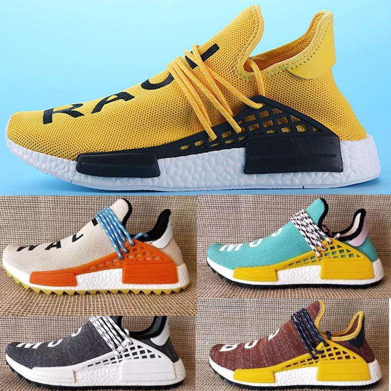 Adidas NMD Human Race Schuhe Mens Womens Unisex Leichte Mode Turnschuhe Atmungsaktive Lace up Athletisch Sportschuhe, Menschliches Rennen Casual