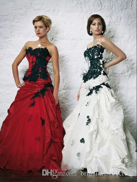 luxury dress 2018 new design hot sale Red or Black Applique Line Ball Gown Formal Party Pageant Quinceanera Dress
