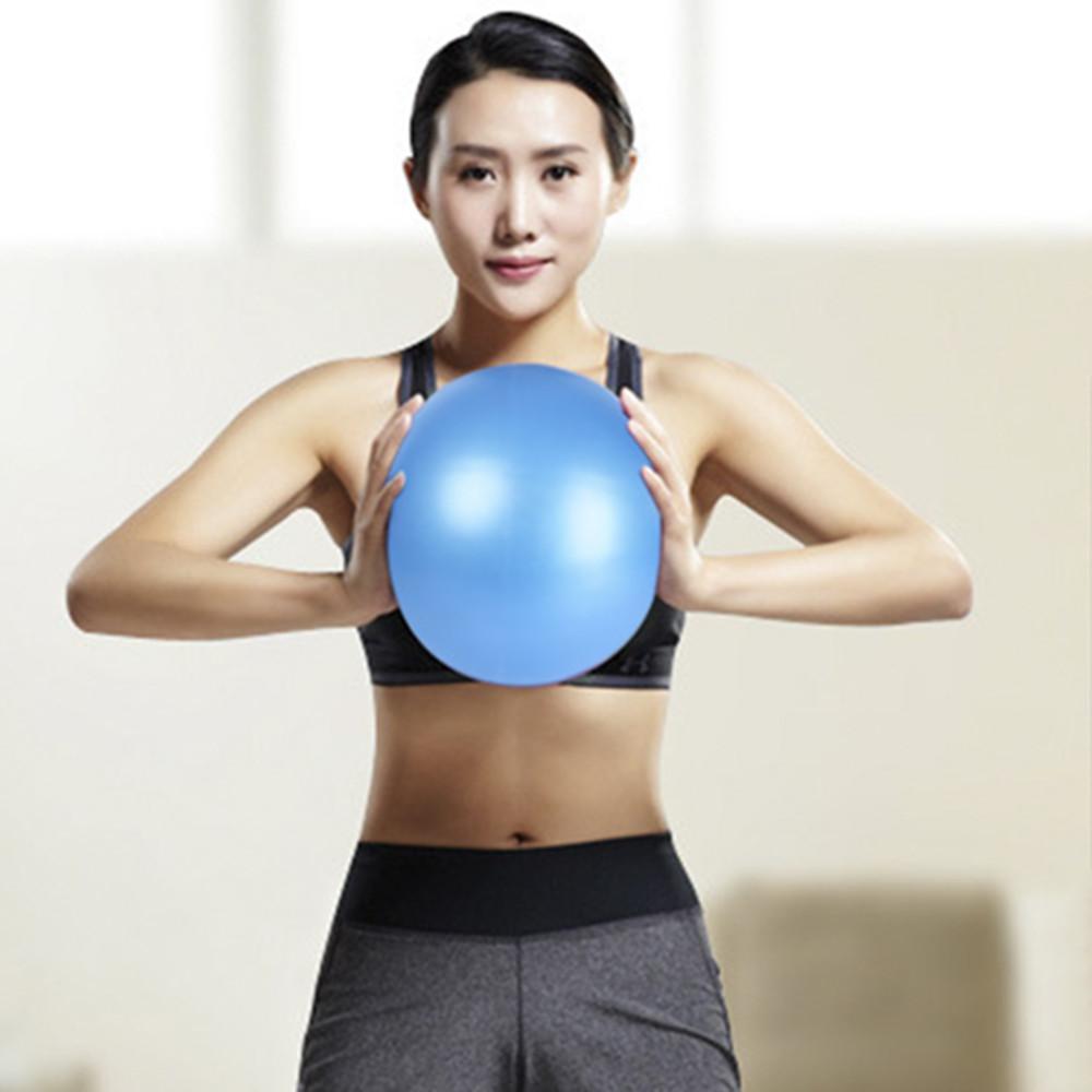 Compre 25 Cm Mini Bola De Yoga PVC Inflación De Aire Anti Explosión Pilates  Masaje Bola De Yoga Equipos De Fitness Para Gimnasia Balance Entrenador En  Casa ... a1bfd7ca578b
