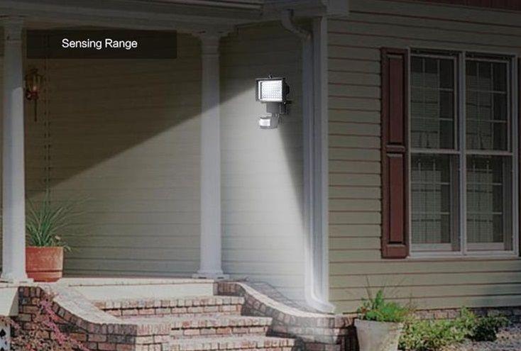 Panel solar Lámpara de pared LED Luz de inundación solar Seguridad al aire libre PIR Sensor de movimiento 60 LED Jardín Camino Lámpara de emergencia de pared