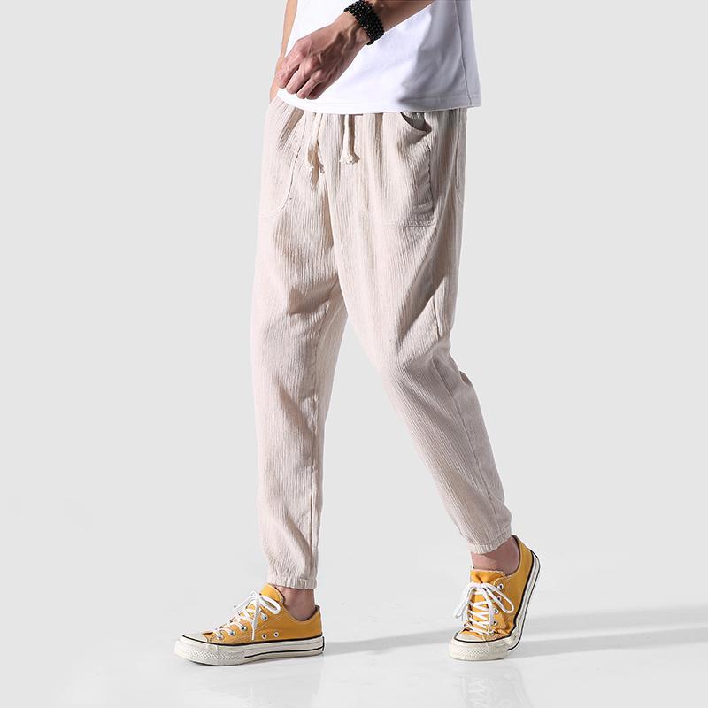 2019 2018 summer cotton linen pant confortable beach linnen broek