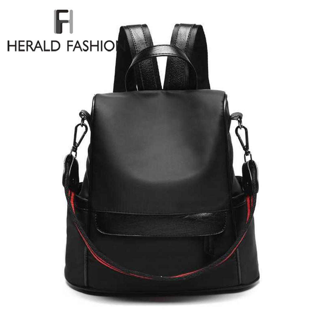 Herald Fashion Women Backpack School Bag For Teenagers College Waterproof  Oxford Travel Bag Female Laptop Back Pack Bolsas Mochi School Bags  Messenger Bags ... 5f751856de9c0