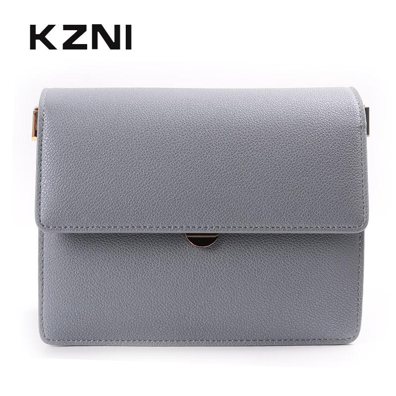22c311376a KZNI Leather Shoulder Bag For Girl Genuine Leather Crossbody Bags For Women  Purses And Handbags Bolsa Feminina Sac A Main 9036 Mens Leather Bags Laptop  ...