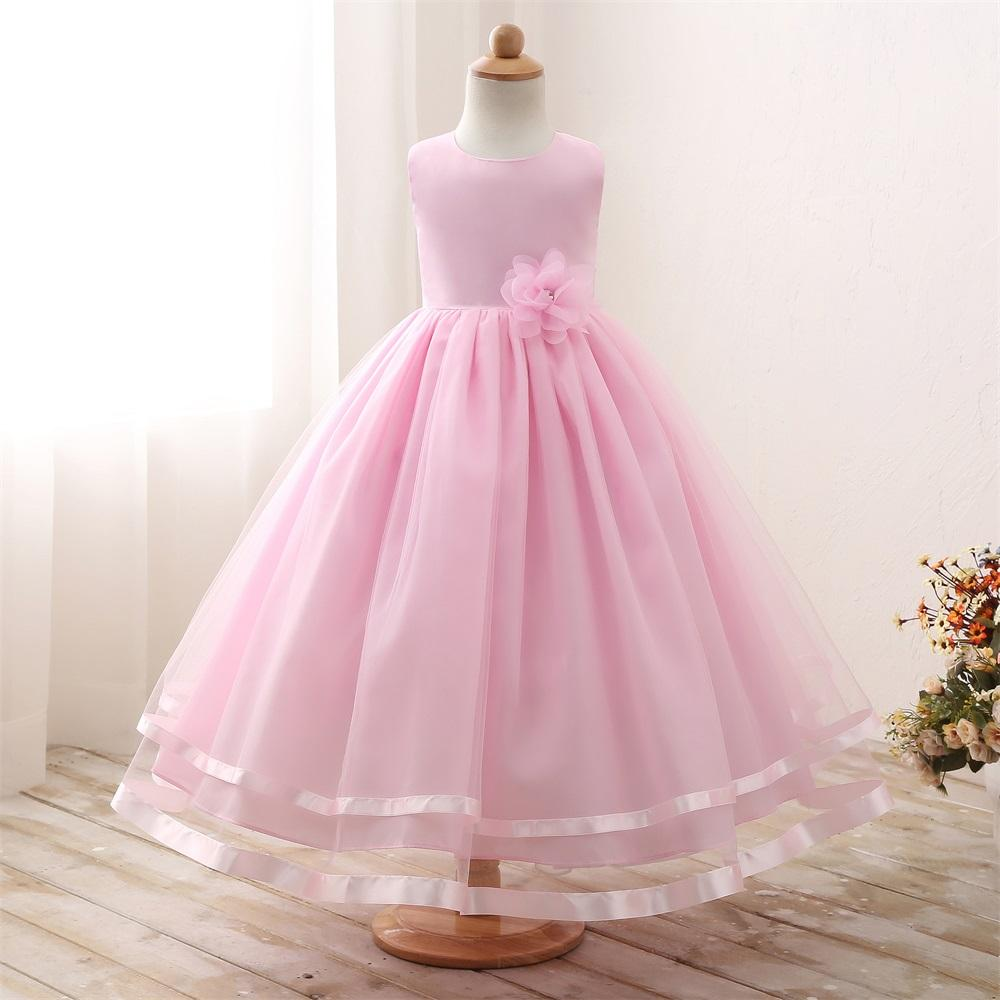 Simple Cheap Princess Kids Gown Flower Girl Dresses For Wedding