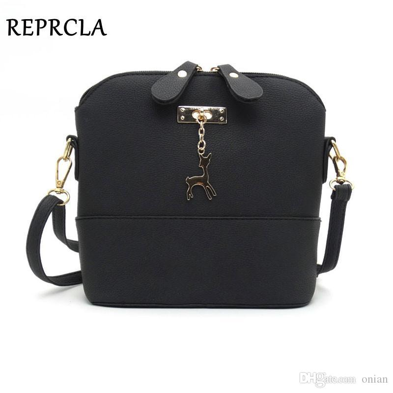 2be919b225a Wholesale HOT SALE Designer Women Messenger Bags Fashion Shell Bag  Crossbody With Deer High Quality Women Shoulder Bags Double Zipper Leather  Backpacks ...