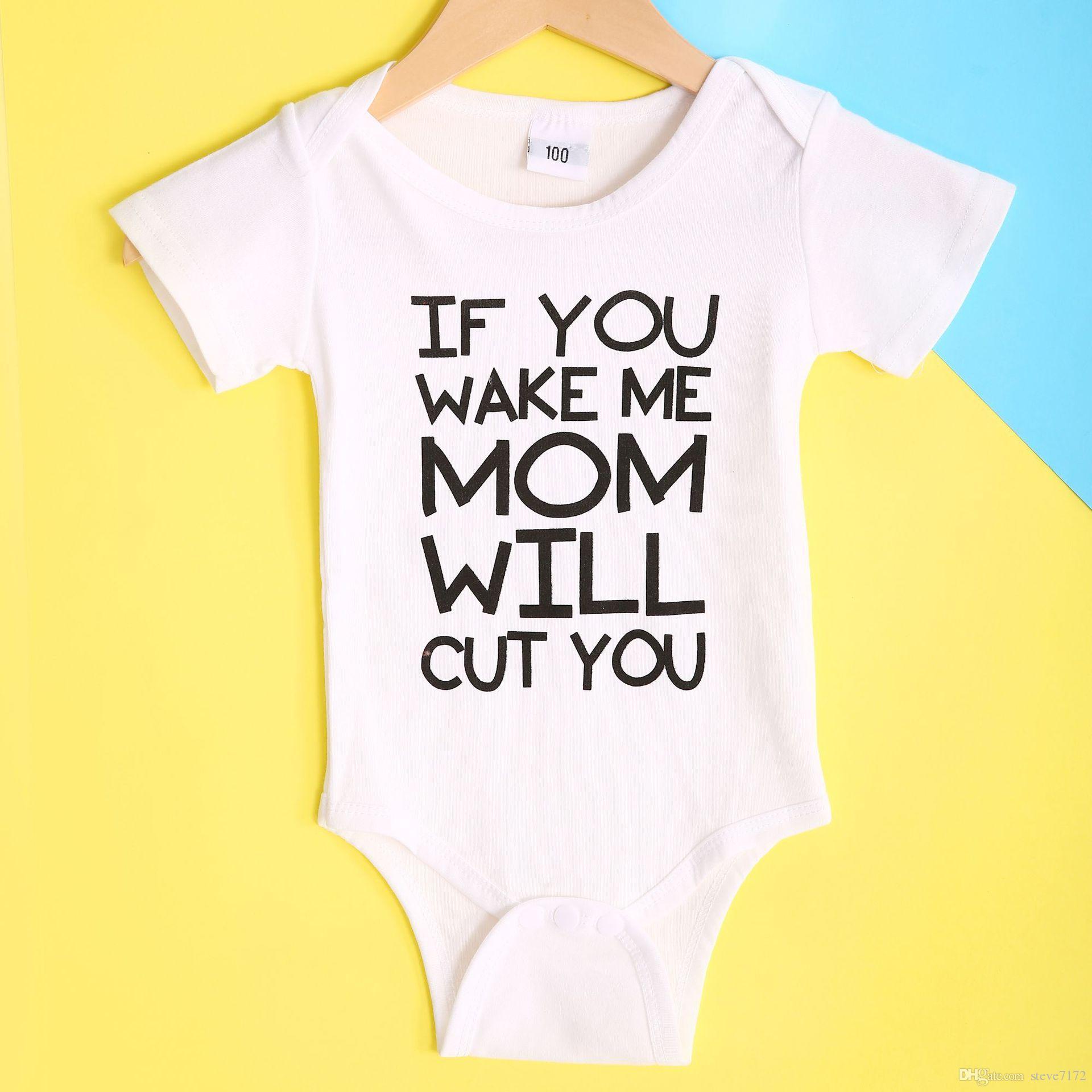 55240989a 2019 Fashion Newborn Clothes Suit Baby Boys Bodysuit Unisex ...