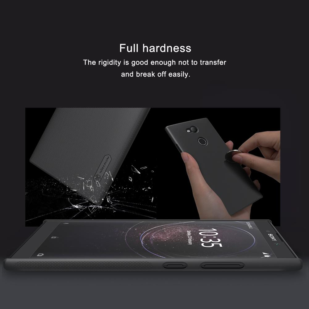 case for Sony Xperia L2 NILLKIN Super Frosted Shield matte back cover Sony Xperia L2 case with free screen protector