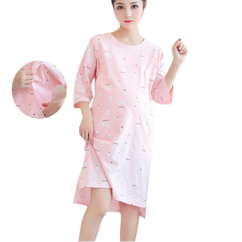 2018 Maternity Breastfeeding Nursing Nightgowns For Nursing Mothers ...