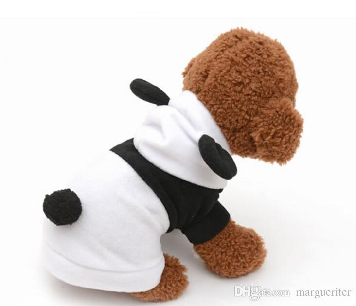 2018 dog clothes panda suit hoodie costume cute fleece clothes soft