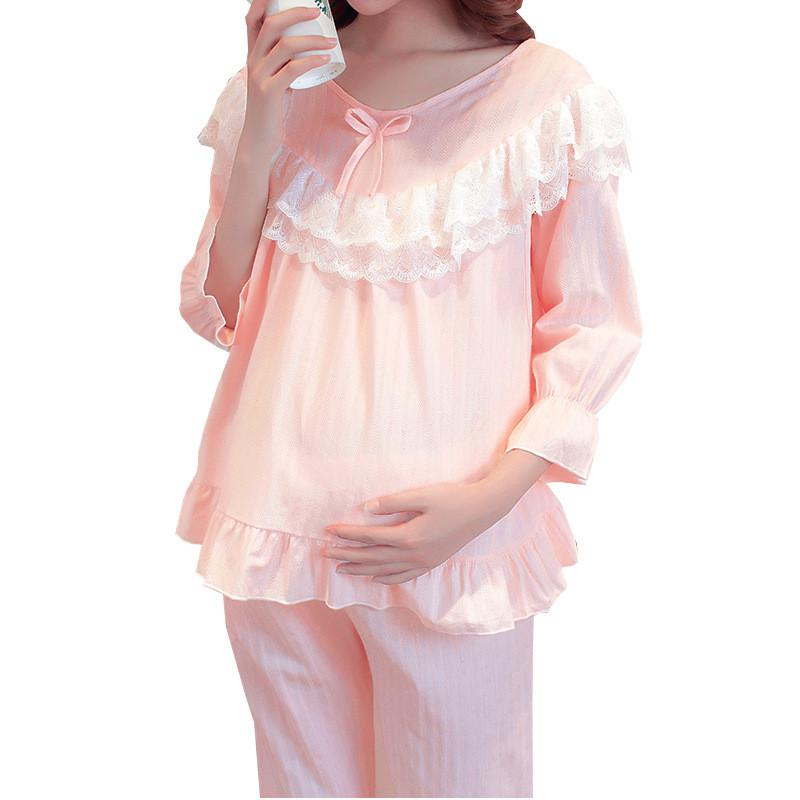 a66256cd806 2019 Maternity Pajamas Cotton Nightgown Lactation Plus Size Nursing Wear  Sleepwear Clothes Nightgowns For Breast Feeding Nightwear From Bradle, ...