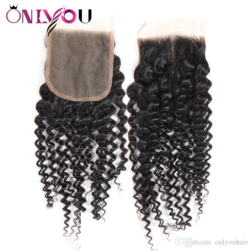 Flash Deals Malaysian Kinky Curly Virgin Hair Bundles with Top Lace Closure Kinky Curly Human Hair Weave Extensions Just For you Wholesale