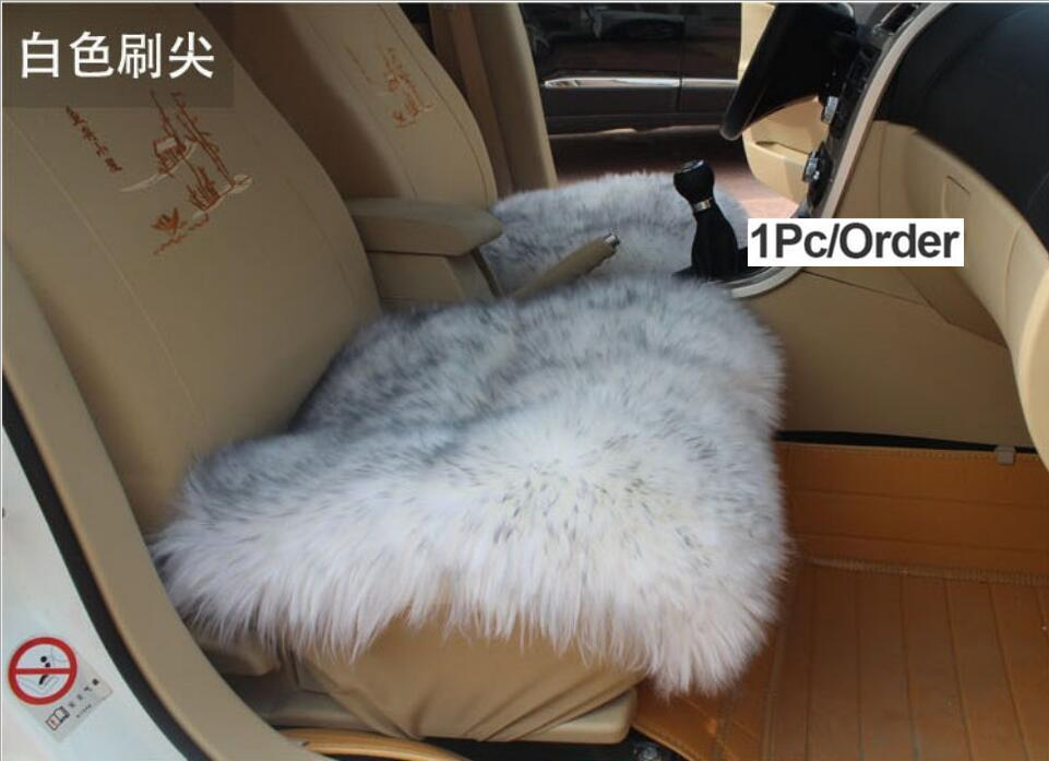 Fur Capes On The Seat Of Cars Covers For Car All Seats Set Color Yellow Faux Warm Heated 2016 Sales I014 5 Cushions