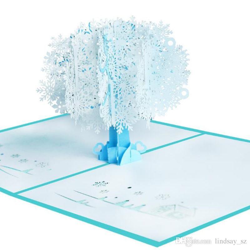Christmas Snow 3d Card White Snow 3d Christmas Card Paper Handmade