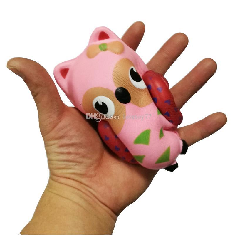 Atacado coruja mole simulação de 12 centímetros animais pão espuma bolo lentamente salta para trás o Squishies Jumbo bonito descompressão Brinquedos