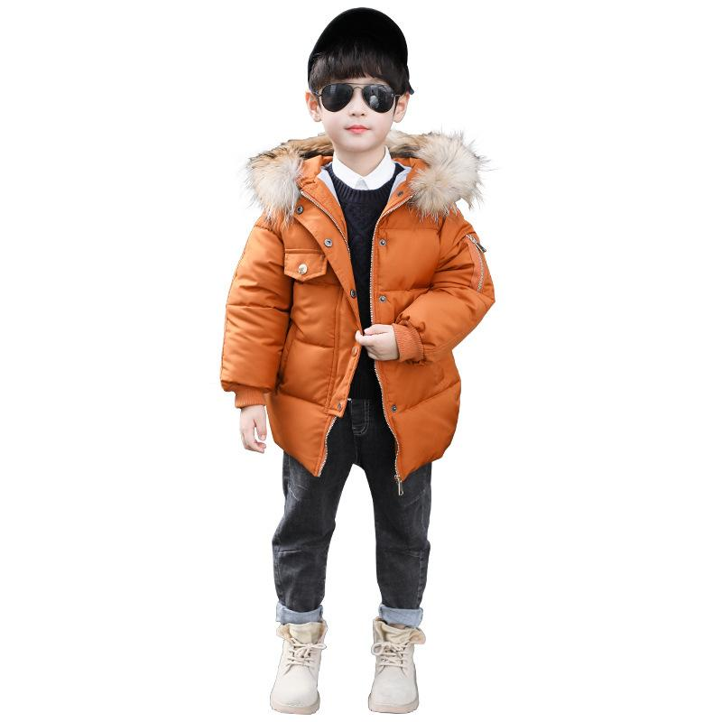 ae3af996f 2018 Baby Boys Winter Thick Warm Jacket Kids Fur Hooded Casual Coats ...
