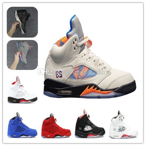 new styles 6b6d3 1a96c 5s 5 ORANGE PEEL International Flight Basketball Shoes REFLECTIVE CAMO V Blue  Red Suede White Cement Fire Red Black Camo Grey Sports Shoe Shoes Men ...