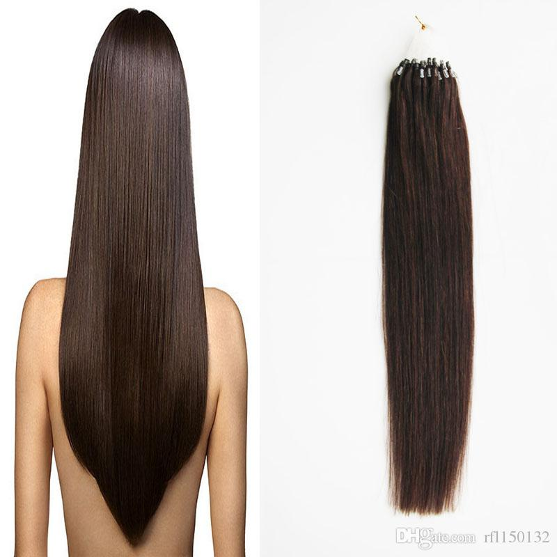 Brazilian Human Hair Micro Link Hair Extensions Human 1 Bundles