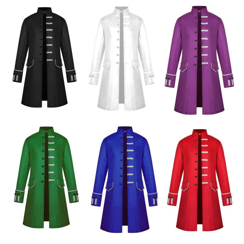 ccd397bee4dc 2019 Mens Vintage Tailcoat Jacket Goth Long Steampunk Formal Gothic  Victorian Frock Coat Costume For Halloween 6 Colour Select Size S 3XL From  ...