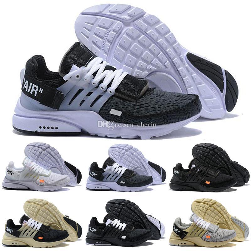 new concept 4b8ad e3e8e 2019 New Presto 2.0 Shoes White Black Virgil Men Women Prestos Running  Sneakers Air Cushion Casual Designer luxury Sports Size 5-12