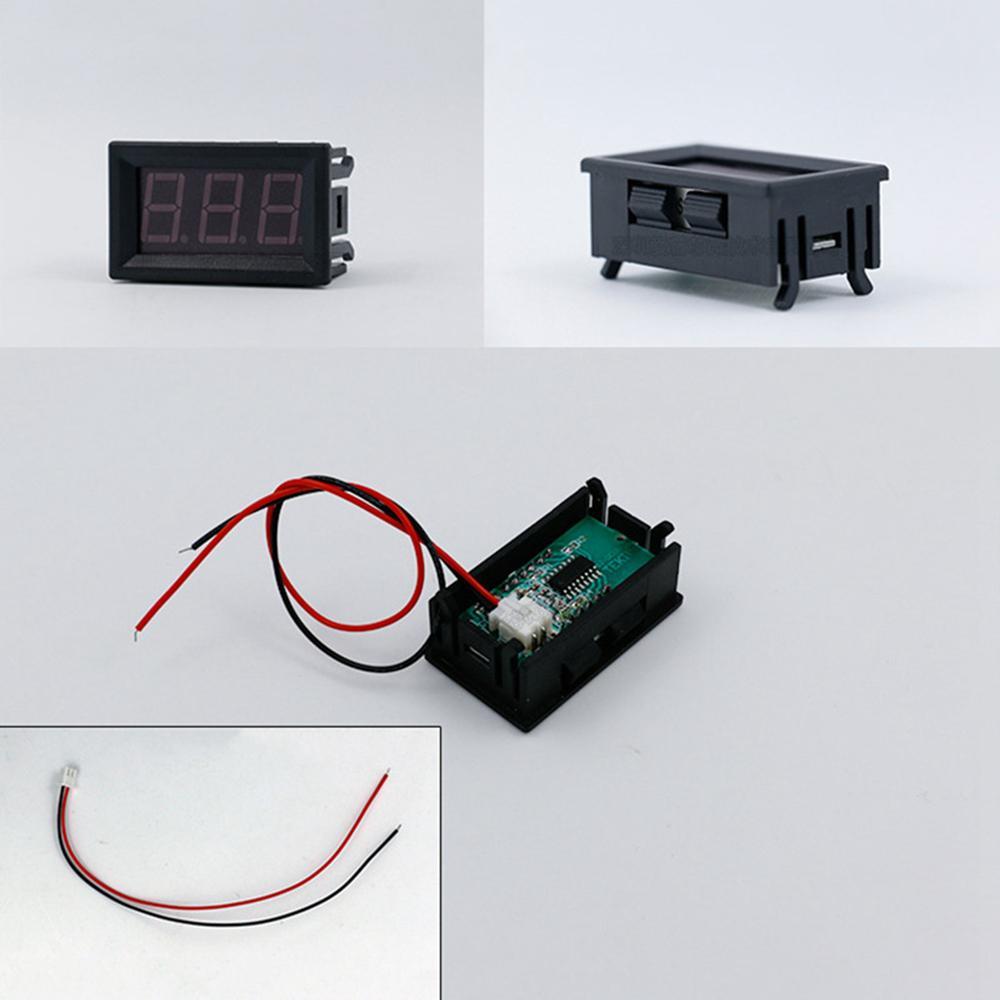 2 провод мини светодиодный цифровой дисплей вольтметр постоянного тока 2.5-30В тестер батареи LED Amp цифровой вольтметр диагностические инструменты AAA291