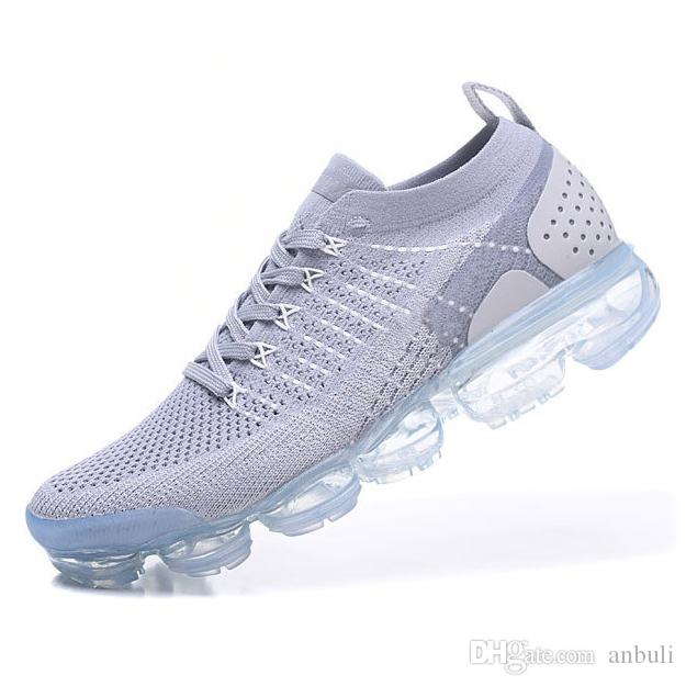 With Box 2018 II Vapormax 2 2.0 Running Shoes Mens Air Sneakers for Women  Trainers Male Sports Womens Breathable Jogging Size 36-45 2018 Air Vapormax  2 2.0 ... d0a0c3f58