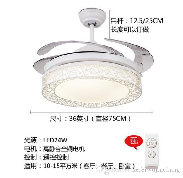 2018 ceiling fan lamp stealth ceiling fan modern simple living room 2018 ceiling fan lamp stealth ceiling fan modern simple living room lamp from kefeiwujinchang 25458 dhgate aloadofball Image collections